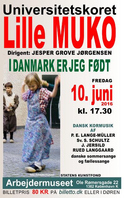 K�b billet til koncert p� Arbejdermuseet fredag d. 10/6 kl. 17:30 med Universitetskoret Lille MUKO
