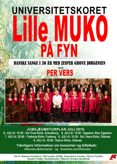 Lille MUKO concert on P2, Wednesday 13th July at 19:20 - The University Choir Lille MUKO - Classical Choir in Copenhagen